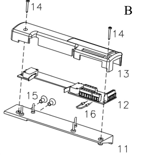 Engine damper ACM gate garage roller automatic